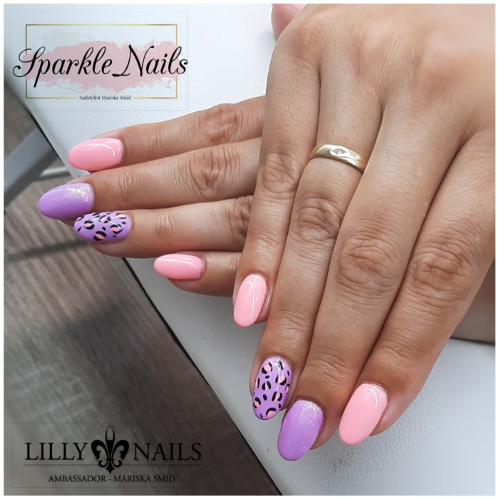gelnagels pink, purple